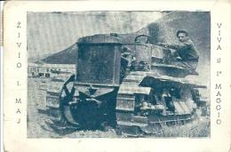 Postcard (Holidays) - Yugoslavia Tractor On Rasa (popolare Arasia) - May 1st VUJA - Altri
