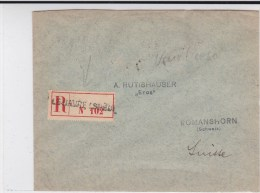 1915 - GOUVERNEMENT BELGE EN EXIL - ENVELOPPE RECOMMANDEE De LE HAVRE SPECIAL Pour ROMANSHORN (SUISSE) - Other Covers