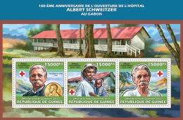 Gu13601a Guinea 2013 Albert Schweitzer Nobel Peace Prize Red Cross S/s - Albert Schweitzer