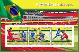 gu13611a Guinea 2013 Sport Football Soccer Brazil FIFA s/s Flag