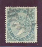ISABEL II ESPAÑA EDIFIL Nº 91 10 CENT DE ESCUDOS MATASELLADO - 1850-68 Reino: Isabel II