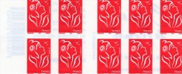 FRANCE CARNET TIMBRES TYPE  MARIANNE LAMOUCHE  ADHESIF N°3744C11 SIX OPERA DE MOZART - Carnets