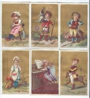 6 Beaux Chromos à Fond Doré/ Non Personnalisés/ Les Prix / Vers 1880   IM660 - Trade Cards