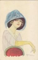 $3- 3025- Cartolina Illustrata Firmata - Donna Con Sigaretta - Bella - F.p. Non Viaggiata - Illustratori & Fotografie