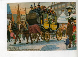 Nurnberg, Postkutsche Am Christkindlesmarkt - Ed Lauterbach - Junia/Aubusson - CAD Stadtbergen - Germany