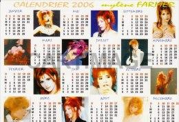 Mylène FARMER  Carte Postale N° ATHQ 152   Calendrier 2006 - Artistes