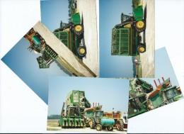 PHOTO 5 Photos Originales Récolte Du Coton En Louisianne -année 1998 (tracteur Tracteurs Récolte Agriculture Machine - Métiers