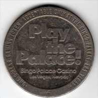 $1 Gaming Token : Jeton Slot Machine : Bingo Palace Casino : Las Vegas 1979 - Casino