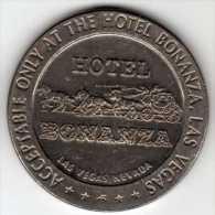 $1 Gaming Token : Jeton Casino Slot Machine : Hotel Bonanza : Las Vegas 1967 - Casino