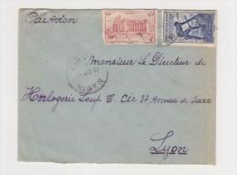 FRANCE. TIMBRE. LETTRE. COLONIE.69. LYON. RHONE. LOUP.  PA.POSTE AERIENNE. AOF. AFRIQUE OCCIDENTALE - A.E.F. (1936-1958)