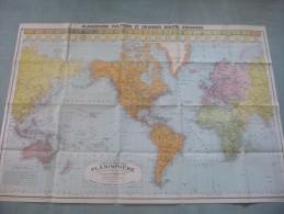 Carte Blondel : Grandes Routes Aériennes - 1 / 40 000 000ème (A L'Equateur) -  Années 1940... - Cartes