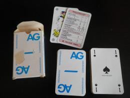 jeu de 52 cartes � jouer  - assurances AG