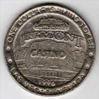 $1 Gaming Token : Jeton Slot Machine : Casino Fremont : Las Vegas 1996 (40 Ans) - Casino