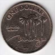 $1 Gaming Token : Jeton Casino Slot Machine : Mirage : Las Vegas - Casino