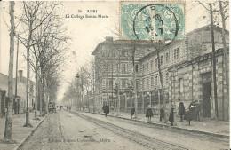 ALBI ( Tarn ) -  DEVANT LE COLLEGE SAINTE-MARIE -  1907 - Albi