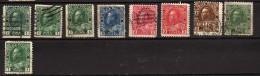Canada 9 Timbres Oblitérés - 1911-1935 Règne De George V