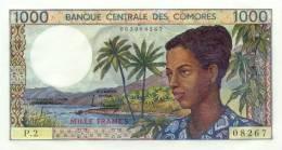 COMOROS P. 11a 1000 F 1976 UNC (s. 6) - Comores