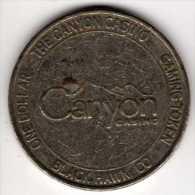 $1 Gaming Token : Jeton Slot Machine : Canyon Casino : Black Hawk CO - Casino