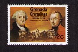 Timbre Neuf Grenade Grenadines (Caraïbes), Bicentenaire De La Révolution Américaine, Lord Cornwallis, 1/2 C, 1976 - Indépendance USA