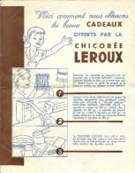 Chicorée Leroux 2 Listes Cadeaux Très Bon Etat - Publicités