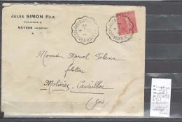 Lettre Cachet Convoyeur  Le Theil D´Ardèche à Valence Sur  Rhone -indice 7 - Postmark Collection (Covers)
