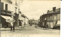 CPA   LANGON, Le Cours Des Fossés, Imprimerie, Attelage  9786 - Langon