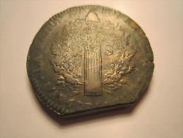 CONSTITUTION . 2 SOLS 1793 BB (STRASBOURG )AN 5. Type FRANCAIS . LOUIS XVI - 1789 – 1795 Monedas Constitucionales