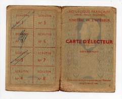 Carte D'électeur - Mairie De Bougneau - Charente Maritime (17) - Historical Documents