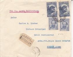 LETTRE ARGENTINE AFFRANCHIE N° 423 ET 424 X 2 - ANNEE 1942 - Argentina