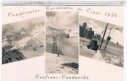 CPA  CANFRANC    CANDANCHU CAMPEONATOS NACIONALES DE ESQUI.  1956. CA45 - Autres