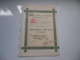 BRIQUETERIES ET CARRIERES D'AIRE SUR LA LYS (1923) Lille-nord - Shareholdings