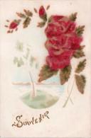 "Cpa 1923, Souvenir,  Roses En ""velours""    (33.85) - Vari"
