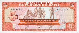 Haiti 5 Gourde 1989 Pick 255 UNC - Haiti