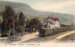 88 - Bussang - La Gare, Vue Intérieure (colorisée) (cachet  Section De Parc Automobile) - Bussang