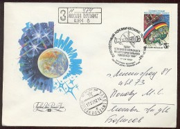 SPACE Cover Mail Used USSR RUSSIA Rocket Sputnik Germany - Lettres & Documents