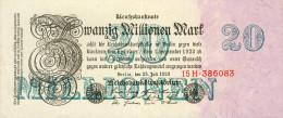 Deutschland, Germany - 20 Mio. Mark, Reichsbanknote, Ro. 96 B,  ( Serie H ) XF ( II ), 1923 ! - 1918-1933: Weimarer Republik
