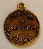 Médaille Souvenir Exposition De 1900 - Tourist