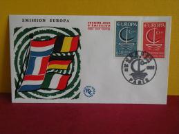 FDC- Europa CEPT - Paris - 24.9.1966 - 1er Jour, - Europa-CEPT