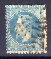 MONTEBOURG (50) GC 2446 (Indice 5) Sur Yvert N° 29  (66790) - 1849-1876: Classic Period
