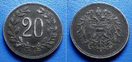 AUSTRIA  20 Heller 1917  RULER: KARL I - Austria