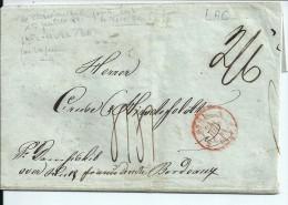 LAC  -- Norvège -  Christiansand  Pour  Bordeaux  --  Via Hul  ( G.B. )  --  1841   --  Etat Moyen - ...-1855 Préphilatélie