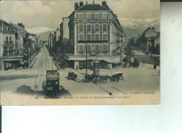 CP GRENOBLE Avenues De La Gare Et Alsace-Lorraine - Grenoble