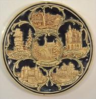 Ancienne Assiette Décorative Céramique LUXEMBOURG Mondorf Les Bains / Diekirch / Echternach / Clervaux / Vianden - Céramiques