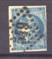 FRX 406 :  Yv  46A  (o)   2 Du Report - 1870 Emisión De Bordeaux