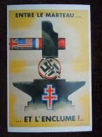"""Image De La 2 Eme Guerre Mondiale : """" Devoir De Mémoire """" Croix Gammée Entre Le Marteau Et Enclume - Guerre 1939-45"""