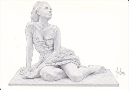 CPM ASLAN CROQUIS ETUDE POUR STATUETTE JEUNE FEMME DENUDEE NOV 1991 CPC - Aslan