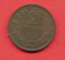 F3909 / - 2 Stotinki - 1912 - Bulgaria Bulgarie Bulgarien Bulgarije - Coins Monnaies Munzen - Bulgaria