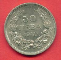 F3965 / - 50 Leva - 1940 - Bulgaria Bulgarie Bulgarien Bulgarije - Coins Monnaies Munzen - Bulgaria