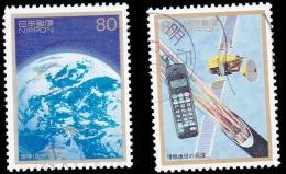 Japan Scott #2548-2549, set of 2 (1996) 50 Post War Memorable Years Series (4th Issue), Used