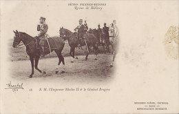 51 CPA BETHENY - Fêtes Franco Russes Revue Empereur NICOLAS II & Le Général BRUGERE - Bétheny
